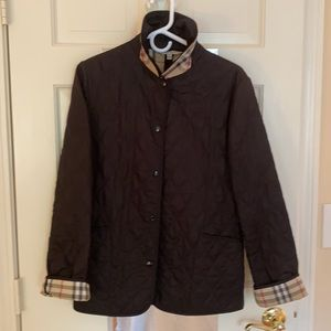 Authentic Burberry quilted black jacket